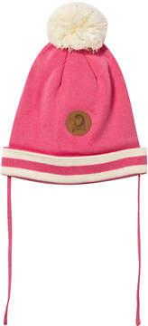 Mini Rodini Pink Knitted Pom-Pom Beanie