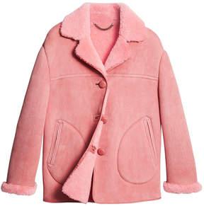 Burberry shearling oversized jacket