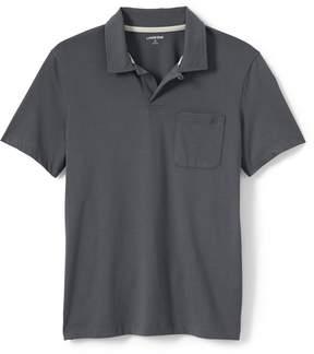 Lands' End Lands'end Men's Short Sleeve Washed Jersey Polo Shirt