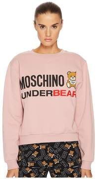 Moschino Cotton Fleece Long Sleeve Sweatshirt