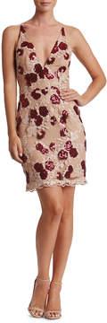 Dress the Population Natalie Rose-Embroidered Cocktail Dress