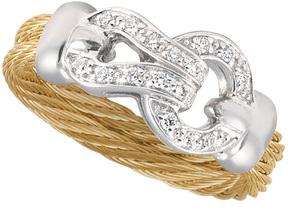 Alor Women's Classique Diamond Stainless Steel 18K Gold Ring