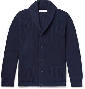 Orlebar Brown Lowe Shawl-Collar Ribbed Cotton Cardigan