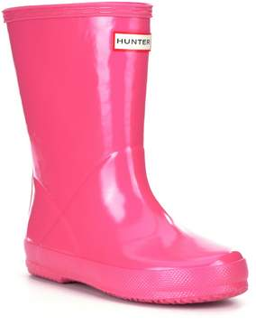 Hunter First Gloss Kids Waterproof Rain Boots