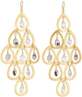 Devon Leigh Quartz & Moonstone Chandelier Earrings
