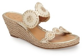 Jack Rogers Women's 'Shelby' Whipstitched Wedge Sandal