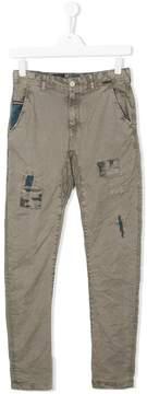 Vingino Teen contrast-stitch distressed jeans