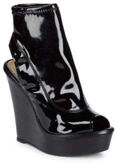 Schutz Vanda Patent Wedge Booties