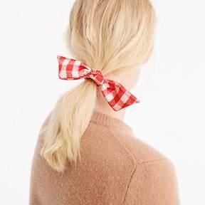 J.Crew Gingham hair tie