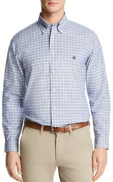 Brooks Brothers Windowpane Plaid Long Sleeve Button-Down Shirt