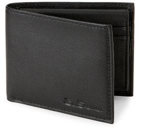 Ben Sherman Black Kensington Bifold Passcase Wallet