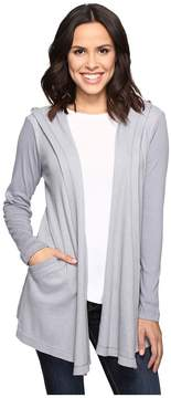 Allen Allen Long Sleeve Hooded Open Cardigan Women's Sweater