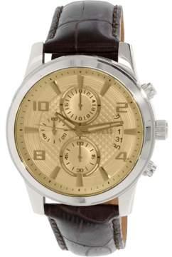 GUESS Men's U0076G3 Brown Leather Quartz Watch