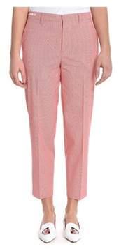 Berwich Women's Pink Wool Pants.