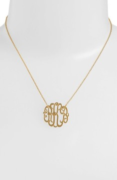 Argentovivo Women's Personalized Small 3-Initial Letter Monogram Necklace (Nordstrom Exclusive)