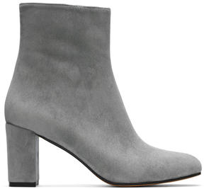 Maryam Nassir Zadeh Blue Suede Agnes Boots