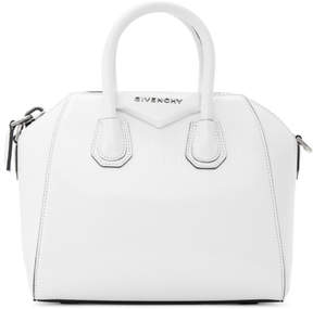 Givenchy White Mini Antigona Duffle Bag