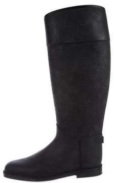 Gucci Guccissima Rain Boots