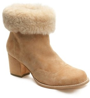 Bill Blass Women's Genuine Shearling Bootie