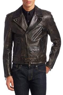 Ralph Lauren Locklear Leather Moto Jacket