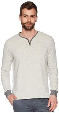 True Grit Soho Long Sleeve Soft Heather Grey Slub Terry Henely Sweatshirt Men's Sweatshirt