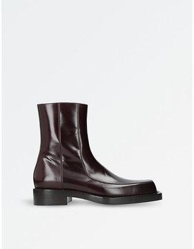 Balenciaga Cube square-toe leather boots