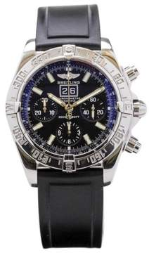 Breitling Blackbird A44359 Stainless Steel Automatic Big Date Chronograph 43mm Mens Watch