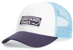 Vineyard Vines Men's Hook Patch Trucker Cap - White