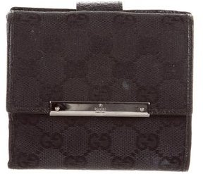 Gucci GG Canvas Compact Wallet - BLACK - STYLE