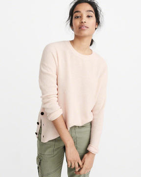 Abercrombie & Fitch Button Crew Sweater