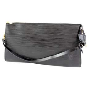 Louis Vuitton Pochette Accessoire leather clutch bag - BLACK - STYLE