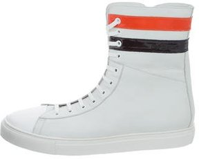 Raf Simons Extra High-Top Leather Sneakers w/ Tags