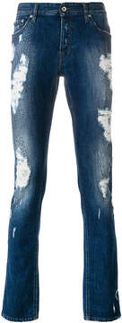 Just Cavalli distressed slim-fit jeans