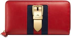 Gucci Sylvie leather zip around wallet