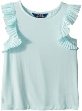 Polo Ralph Lauren Flutter-Sleeve Jersey Top Girl's Clothing