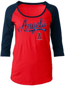 5th & Ocean Women's Los Angeles Angels of Anaheim Sequin Raglan T-Shirt
