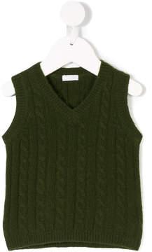 Il Gufo cable knit vest