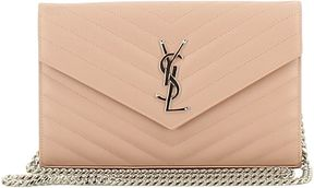 Saint Laurent Monogram Shoulder Bag - POWDER - STYLE