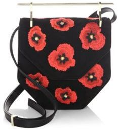 M2Malletier Embroidered Floral Saddle Bag