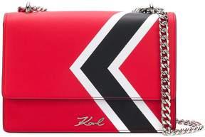 Karl Lagerfeld K/stripes shoulder bag