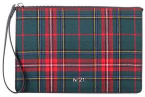 N°21 Plaid wool clutch