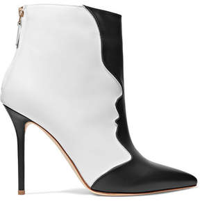 Malone Souliers Camille Two-tone Leather Ankle Boots - Black
