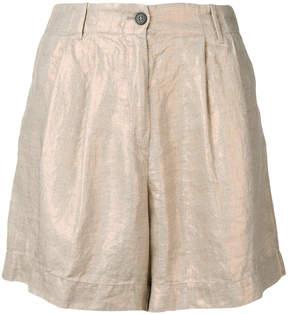 Forte Forte metallic linen shorts