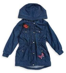 Urban Republic Little Girl's Chambray Hooded Jacket