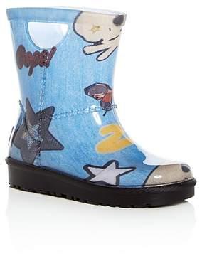 UGG Girls' Rahjee Patches Rain Boots - Walker, Toddler