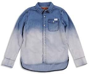 7 For All Mankind Girls' Dip-Dye Denim Shirt - Big Kid