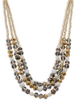 lonna & lilly Crystal Beaded Multi-Layer Necklace