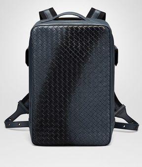 Bottega Veneta Denim Intrecciato Nappa Galaxy Brick Backpack