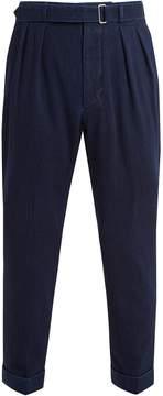 Officine Generale Pierre pleated tie-waist jeans