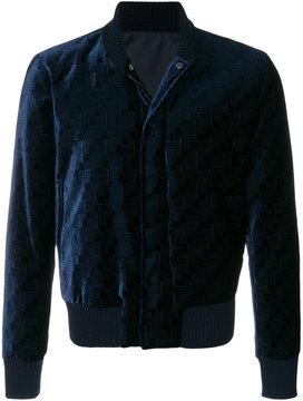 Emporio Armani patterned velvet bomber jacket